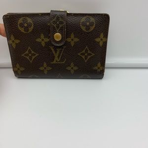 💯Auth Louis Vuitton Bifold Kisslock Wallet